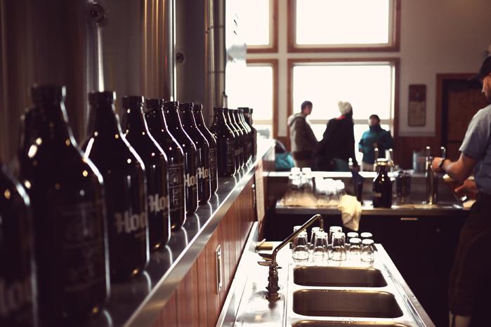 HooDoo Brewing Co Fairbanks Alaska Growlers on Opening Day