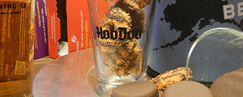 HooDoo Beer + Girl Scout Cookies = YUM!