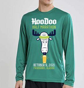 HooDoo Half Marathon Fairbanks Alaska Tee Shirt Logo
